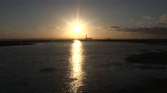 Lake and sunset Stock Footage