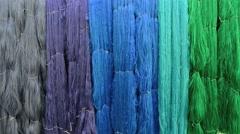 Raw silk thread background Stock Footage