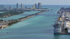Port miami government cut 4k Stock Footage