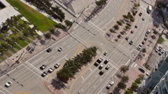 Biscayne boulevard angle static aerial 4k video Stock Footage