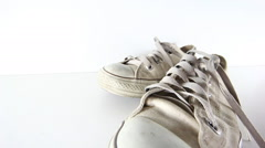 Old shoes Stock Footage