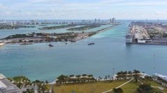 Port miami static aerial 4k Stock Footage