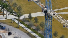 Crane tilt shift 4k Stock Footage