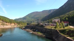 Perucac - Serbia, Hydropower plant Stock Footage