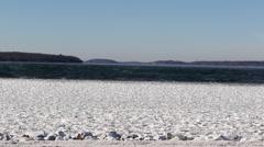 Beautiful Winter Landscape Waterfront Stock Footage