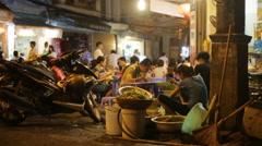 Stock Video Footage of Vietnam restaurant on street