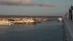 Rome Italy Ferry cruise ship Civitavecchia Port 4K 047 Stock Footage