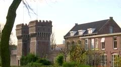 Scheveningen - Hague  Prison Holland Stock Footage