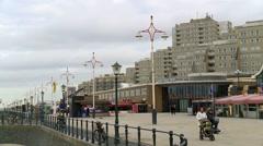 Scheveningen - Pier Stock Footage