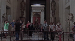 Rome Italy inside Vatican art sculptures tourism 4K 011 Stock Footage