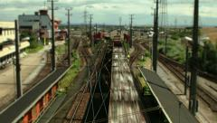 TIME LAPSE Track System Klederring/Austria – zoom Stock Footage