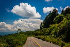 Black balsam knob road, near the blue ridge parkway in north carolina. Stock Photos