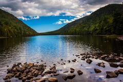 Bubble pond, at acadia national park, maine. Stock Photos