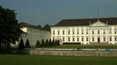Bellevue Palace (Schloss Bellevue) in Berlin Stock Footage