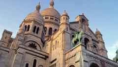 Sacred Heart Sacre Coeur Church Montmartre Paris France 4K Stock Video Footage Stock Footage