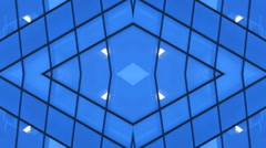 Business Design  Building Lights background  kaleidoscope Stock Footage