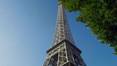 Tracking Shot of Eiffel Tower Day 4K Stock Video Footage Stock Footage