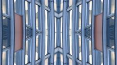 Future Design Building Lights background  kaleidoscope Stock Footage