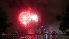 Sydney Skyline at New Year Stock Footage