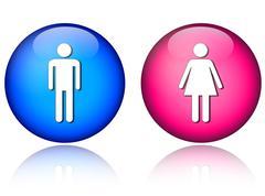 Man woman icons Piirros