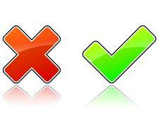 validation icons - stock illustration