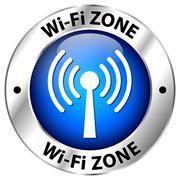 wi-fi zone - stock illustration