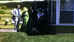 Sixties WEDDING Ceremony Love Bride Marriage 1960s Vintage Film Home Movie 8071 - stock footage