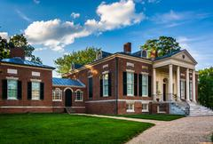 The homewood house at john hopkins university in baltimore, maryland. Stock Photos