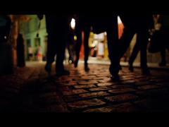 People Walking Cobblestone Streets Paris Night 4K Stock Video Footage Stock Footage