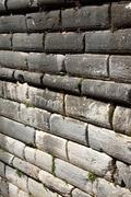 ashlar wall - stock photo