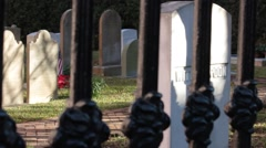 Closeup of decorative fence Stock Footage