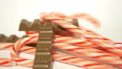 Candy Canes and Chocolate Horizontal 1 Stock Footage