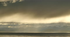 4k morning mist over lake namtso,tibet mansarovar. Stock Footage