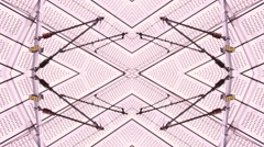 Design Train station   background  Abstract  kaleidoscope Stock Footage