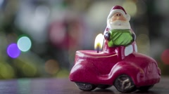 Christmas candle toy Stock Footage