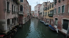 Venice Italy apartments along canal HD 4116 Stock Footage