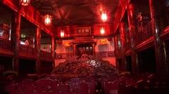 Inside Vietnam Temple Stock Footage