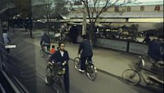 China 1987: view from the window of a bus Stock Footage