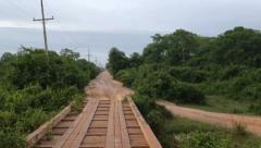 Transpantaneira road TL POV Stock Footage