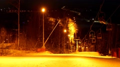 Peoples having fun in ski resort.  Stock Footage