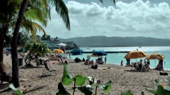 "Jamaica Montego Bay Caribbean Sea 020 dreamlike ""Doctor's Cave Beach"" - stock footage"