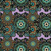 Stock Illustration of Seamless tribal mandala background