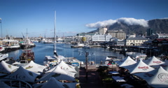 V&A Waterfront, Cape Town, South Africa. Time-lapse 4K Stock Footage