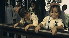 China 1987: children portrait Stock Footage