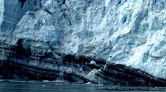 Small Glacier Ice Calving Stock Footage