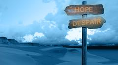 hope - despair - stock illustration