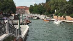 Venice Italy beautiful canal boats bridge 4K 002 - stock footage
