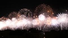 Copacabana Fireworks New Year Eve Stock Footage