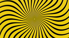 Abstract spun rays in yellow on black Stock Footage