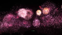 Copacabana Fireworks New Year Eve Stock Footage